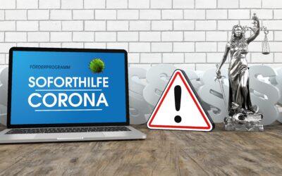 Tilbagebetaling af Corona-Soforthilfe i Tyskland. Vær selv aktiv og undgå bøde.