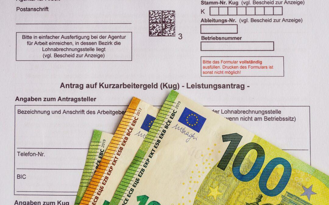 Forhøjelse af Kurzarbeitergeld og forlængelse af dagpengeperioden